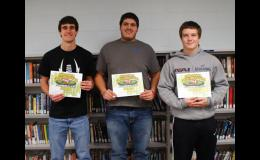 Three Greene County football players were named to the Iowa Football Coaches Associations All-State Academic Team. Recipients must have been senior starters on the team and have a cumulative grade point average of 3.7 or higher. Left to right: Jake Carey, Isaac Perez and Dylan Hamilton.