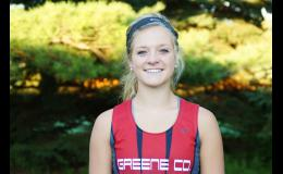 Emily Christensen was the top Ram female runner in the 2A cross country state qualifying meet on Oct. 23.