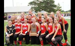 Greene County placed third in the state softball tournament by defeating second ranked East Marshall 10-3 on Friday. The Rams, who were never ranked all season, finished with a 29-8 record.