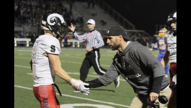 Greene County head coach Mitch Moore was named the 2018 Class 2A, District 9 coach of the year. The second-year coach helped lead the Rams from a 1-8 record a year ago to a n 8-2 record this fall and their first playoff appearance since 2009.  BRANDON HURLEY | JEFFERSON HERALD
