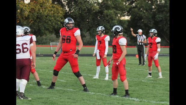 Greene County offensive lineman Tyler Miller (66) announced his verbal commitment to Iowa State University Thursday. The 6-8, 285 pound lineman is rated a three star recruit in the Class of 2020 by 24/7 Sports. He held offers from six D-I schools.  BRANDON HURLEY   JEFFERSON HERALD