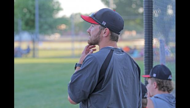 Greene County head baseball coach Matt Paulsen is in his first year with the Rams, continuing a family bond with his assistant and dad, Kevin.  BRANDON HURLEY | JEFFERSON HERALD