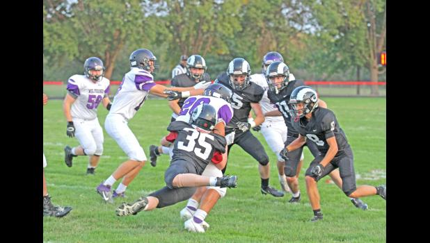 The Greene County came up huge when it mattered most in week 4, as the Rams held Nodaway Valley without a point in the second half en route to a 22-19 victory Sept. 18 in Jefferson.  BRANDON HURLEY | JEFFERSON HERALD