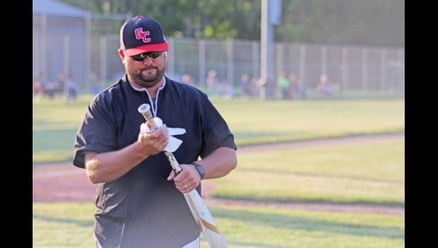 Safety precautions were taken as often as possible during Greene County baseball's season-opening game june 15 against Saydel, which included reported sanitation of bats and balls.  BRANDON HURLEY | JEFFERSON HERALD