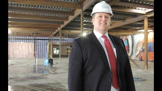 Carl Behne, pictured in 2014 during construction at the Greene County Medical Center, resigned last week as CEO. HERALD FILE PHOTO