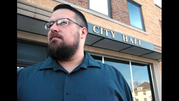Matt Gordon, 40, led his first city council meeting Tuesday as Jefferson mayor. ANDREW McGINN | JEFFERSON HERALD