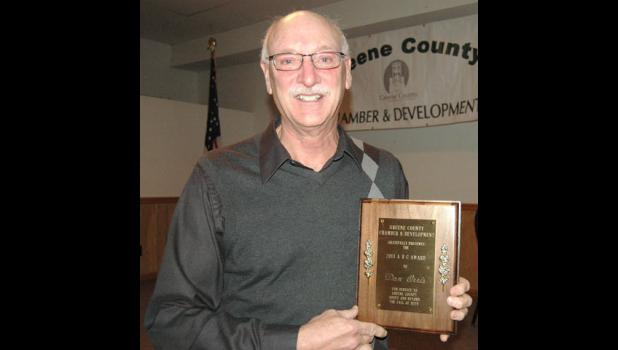Don Orris was honored Monday with the 2013 ABC Award for his efforts to improve Jefferson.