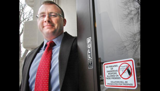 The issue of courthouse security has been a topic of concern for County Attorney Thomas Laehn. HERALD FILE PHOTO