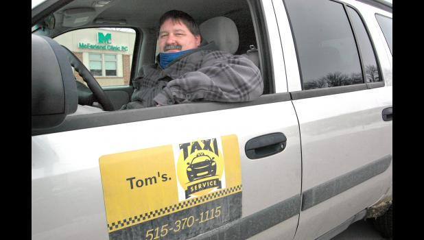 """We've needed this for a long, long time,"" says Tom Ganoe, the lifelong Greene County resident who recently started Tom's Taxi Service. Uncertainty in his regular job caused by the pandemic led Ganoe to start Jefferson's first taxi service, with surprising results. ANDREW McGINN 