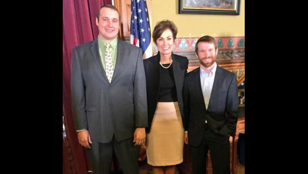 Holz and Frederick were recently asked to join Gov. Kim Reynolds as she signed water quality legislation into law. CONTRIBUTED PHOTO