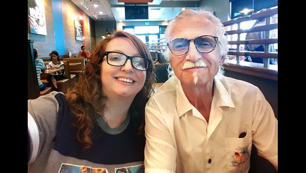 "Jefferson native Clair Tomlinson (right), pictured with daughter Casey, signed up in 1962 for the Air Force and found himself manning a new ICBM called the Titan II for three years in the Arizona desert. Later, a producer in L.A. named Bill McIntyre saw in Tomlinson what he heard in the Firesign Theatre: Subversive comedy gold. Drawn from Tomlinson's stories about his time in the service, their screenplay, ""Nuclear Warriors: A Serious Comedy,"" reads like a real-life version of ""Dr. Strangelove."""