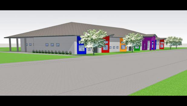 While the planned Lil' Wildcat Education Center in Glidden was the focus of Ernst's visit, board members and other advocates of the Greene County Early Learning Center in Jefferson are raising funds for a new facility of their own, with plans to serve an additional 50 children in a new building (pictured).