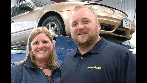 Miranda and Mike Wahl bought McAtee Tire from Mike's grandfather, Dean McAtee, in 2016. The business has relocated to a more visible location off Highway 4. ANDREW McGINN | JEFFERSON HERALD