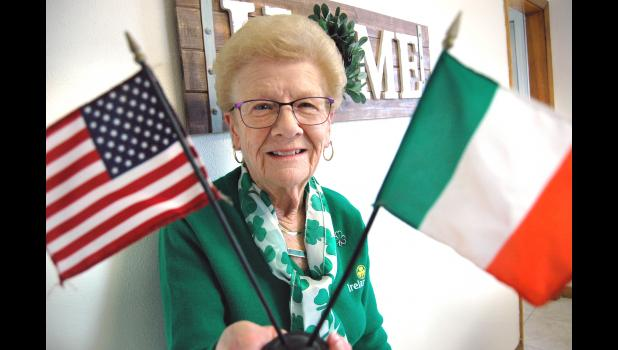 Betty Kuebler, of Jefferson, came for a visit from Northern Ireland in 1957 and never left. Despite being an American citizen for decades, there's still a part of her that longs for Ireland. ANDREW McGINN | JEFFERSON HERALD