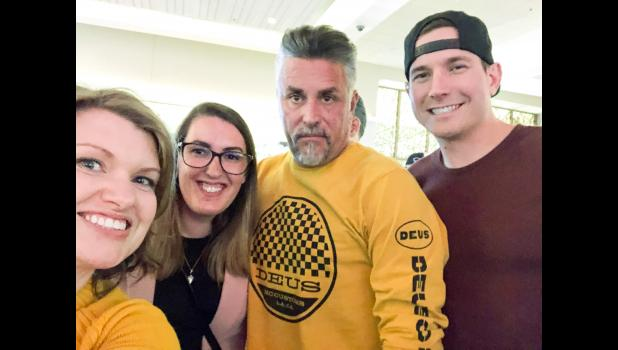 "Richard Rawlings, star of Discovery Channel's ""Fast N' Loud"" and ""Garage Rehab,"" shocked local fans in February when he showed up in Jefferson on business. LEFT: He posed for pictures at Wild Rose Casino, including a selfie with (from left) Nikki Uebel, Ashley Hill and husband Mike Hill, whose car Rawlings was secretly in town to buy."