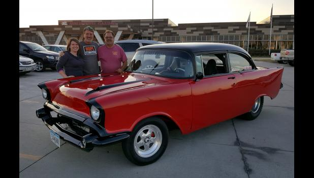 The late Tom Winger (right), of Jefferson, pictured with daughter Nikki Uebel and brother Jerry Winger, loved working on his car, Dirty Red. But after his sudden death last March at age 69, its future was uncertain. One potential buyer had already looked the car over before nephew Mike Hill vowed to keep it in the family. CONTRIBUTED PHOTOS