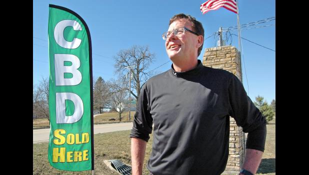"""""""It's tough, but it's fun to be a part of something this important,"""" says Andy Krieger. The Jefferson family known for their greenhouses is on the leading edge of growing cannabis in Iowa. Four homegrown products containing CBD — a non-psychoactive compound of cannabis —  now legally grace the shelves at Greene Goods, the Krieger family's health market on Westwood Drive. ANDREW McGINN 