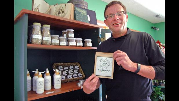 """Andy Krieger was determined to lead the way in Iowa's new legal CBD market. So far, so good: His family business on Westwood Drive was issued the state's first """"consumable hemp retailer"""" license this month. ANDREW McGINN 