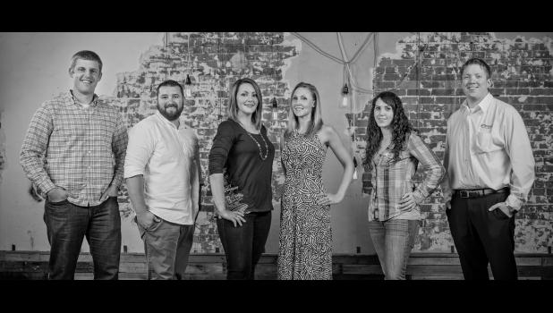 The Greene Group board is made up of (from left) Chris Deal, Dan Meythaler, Toni Wetrich, Susan Sanders, Megan Vaughan and Jamie Daubendiek. PHOTO BY MEYTHALER PHOTOGRAPHY