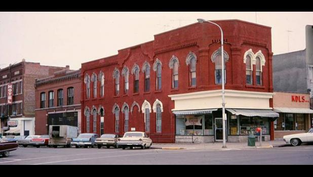 An undated photo shows the building on North Wilson Avenue (situated between the now-gone hotel and the present-day Tea Garden) that the city and Jefferson Matters: Main Street will rehab and resell.