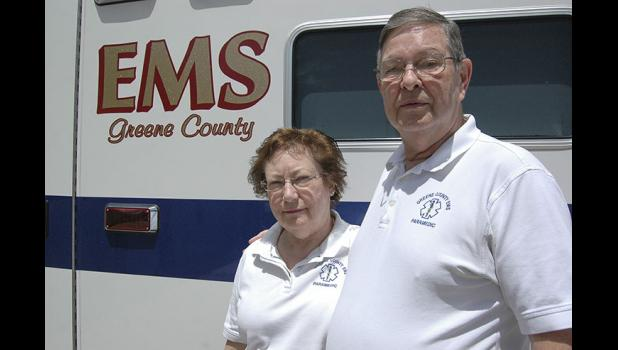 Owners of Greene County EMS, Marcia and Dennis Morlan have seen call volume over the past 30 years increase 400 percent. However, their rate of pay has stayed the same. HERALD FILE PHOTO