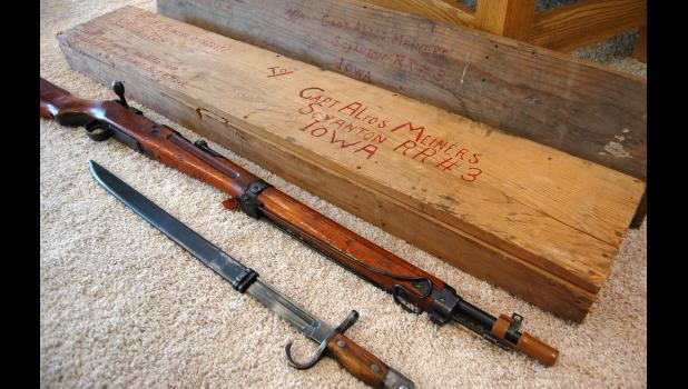 A Jefferson auto mechanic after the war, Al Meiners was an Army captain in World War II. He shipped home an Imperial Japanese rifle and bayonet that found its way into Haupert's collection.
