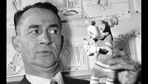 "With World War II raging, actor Pinto Colvig, the original voice of Disney's Goofy, was sent out onto the road by the studio in 1944 to promote a re-release of ""Snow White and the Seven Dwarfs."" The promotional tour reached Jefferson that March. Colvig also voiced Grumpy and Sleepy in ""Snow White."""