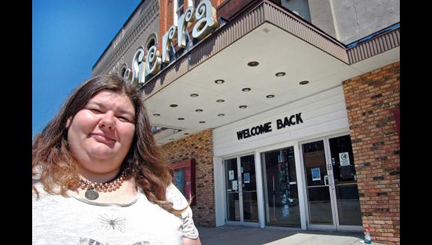 """Hopefully people will come back,"" says Sarah Nicholson, executive director of the Sierra Community Theatre, which reopened Friday after more than two months. Like all theaters in Iowa, the Sierra had to close March 17 on order of Gov. Kim Reynolds because of COVID-19. ANDREW McGINN 