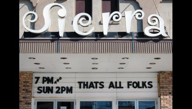 The day the Sierra was ordered to close by the state, Nicholson quickly changed the marquee.