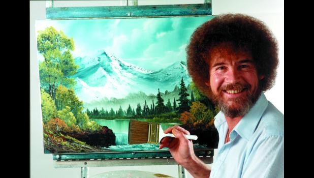 "The late Bob Ross did a total of 381 paintings on his PBS show, ""The Joy of Painting,"" between 1983 and 1994. Twenty-five years later, he has a new fan in Alivya Smith, a fourth-grader at Paton-Churdan. She's planning on having a Bob Ross-themed painting party for her 11th birthday in September. ®Bob Ross name and images are registered trademarks of Bob Ross Inc. Used with permission."