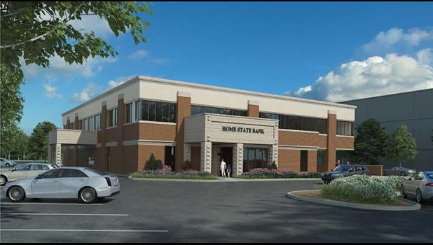 Going up? Not wanting to take up more parking space, Home State Bank is expanding vertically.