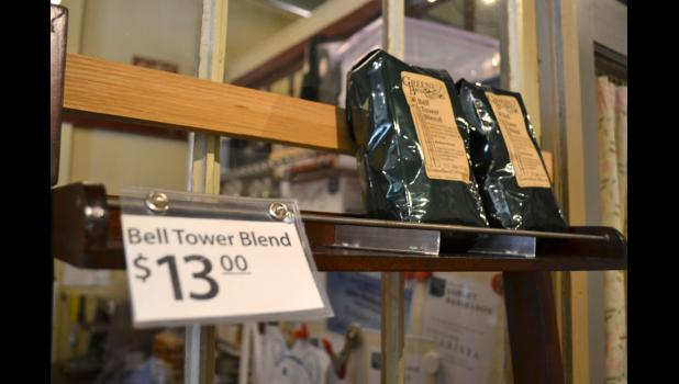 The Osbornes' Bell Tower Blend has been popular in their coffeeshop, Greene Bean, since they introduced it a week ago.
