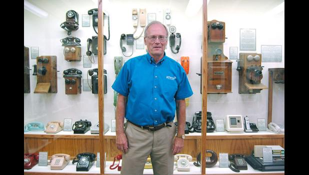 Jim Daubendiek, general manager of Jefferson Telecom, is overseeing renovation of the company's 60-year-old telephone museum, taking it from an inconsistently labeled collection of old phones to a first-rate exploration of a technology we can't live without. ANDREW McGINN | HERALD PHOTO