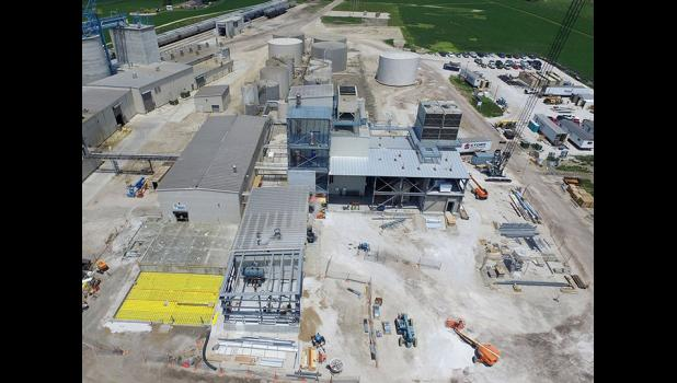 REG's biodiesel plant in Ralston, photographed on June 22, is growing from a 12 million gallon to 30 million gallon per year biorefinery. The plant is scheduled to be operational by Dec. 8.