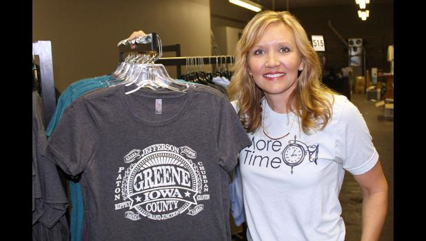 Jen Badger, owner of Shine On Designs, is set to open on the north side of the Square in a couple of weeks. BRANDON HURLEY | JEFFERSON HERALD