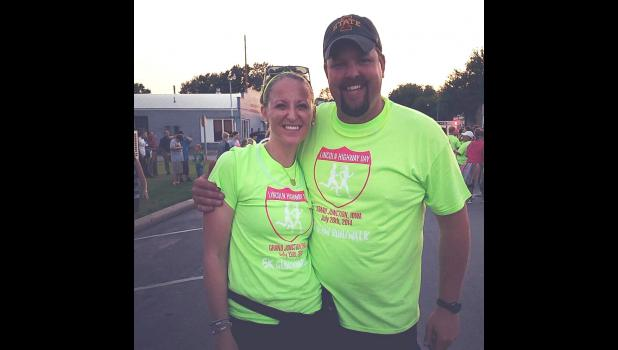 Heidi and Dustin Fouch organized a Glow Run with proceeds donated to the new Grand Junction Community Center.
