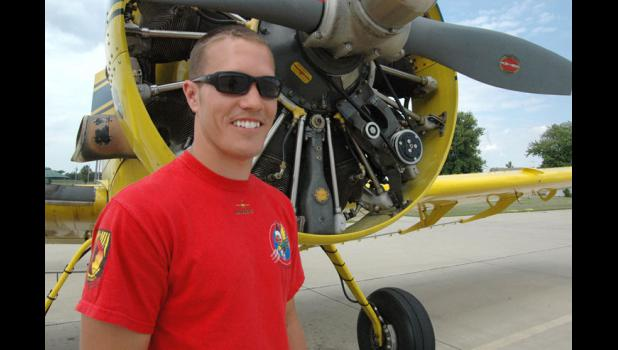 My other ride is an F-16: Ryan Stott, 32, a homegrown fighter pilot who was flying combat two years ago in Afghanistan, hopes to take over his family's local crop dusting business.