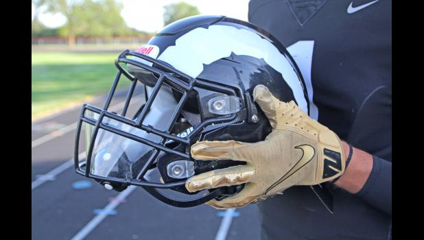 The 10-thousandth of an inch piece of clear plastic attached to the bottom rung of Greene County's face masks this fall were donated by ISU in an effort to curtail the spread of coronavirus. BRANDON HURLEY | JEFFERSON HERALD