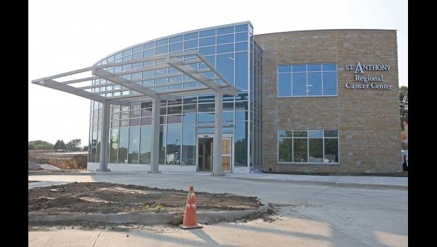 Construction is winding down on the St. Anthony Regional Cancer Center in Carroll. The center is on target to see patients starting Dec. 7.