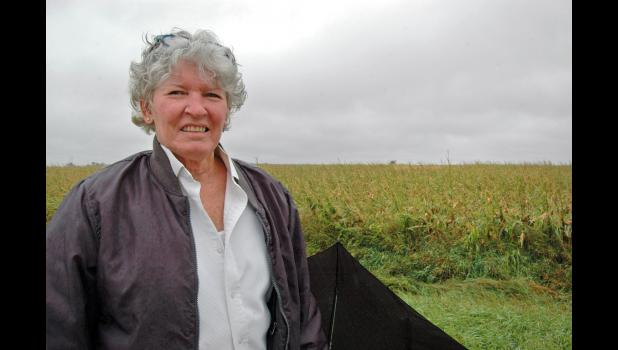 "Chris Henning, Muir's challenger in the Nov. 3 election, has worries of her own about harvest. ""I've never had this kind of damage to a field,"" she says."