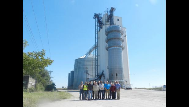 West Central staff, directors and contractors celebrated the completion of a new storage bin Tuesday in Beaver.