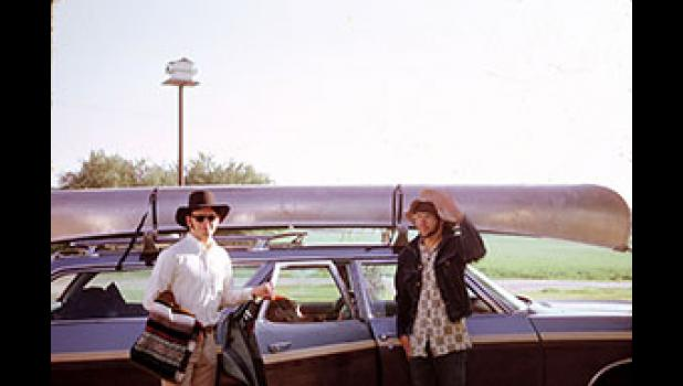 """In 1970, at the start of adulthood, Donovan (left) and Stream undertook an adventure with similar flair, taking a borrowed canoe from Squirrel Hollow southeast of Jefferson to Lake Red Rock near Pella more than 100 miles away. """"We were ill prepared for where dams were,"""" Donovan, now 67, admits."""