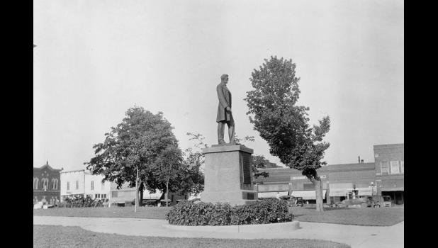 Walking the Lincoln Highway has given them a new appreciation for the nation's oldest transcontinental highway. This is how the Lincoln statue along present-day Lincoln Way in downtown Jefferson looked in 1926.