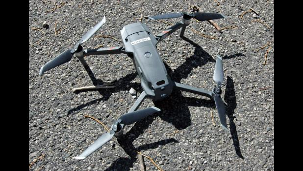The Mavic 2 Enterprise acquired this year by the sheriff's office has both visible and thermal imagery, and records video in 4K resolution. ANDREW McGINN | JEFFERSON HERALD