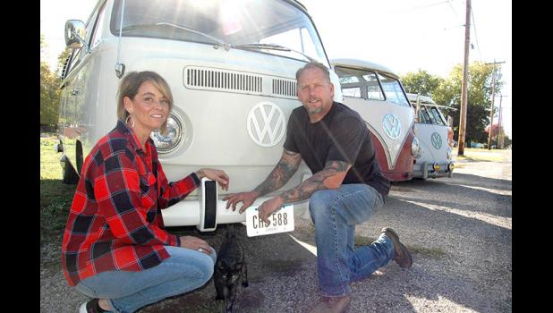 Shawn and Jennie Olson relocated to Jefferson from Southern California, bringing a SoCal eye for the cool to their work as antique pickers. They've now thrown themselves into repurposing their picks into contemporary home furnishings. ANDREW McGINN | JEFFERSON HERALD PHOTOS
