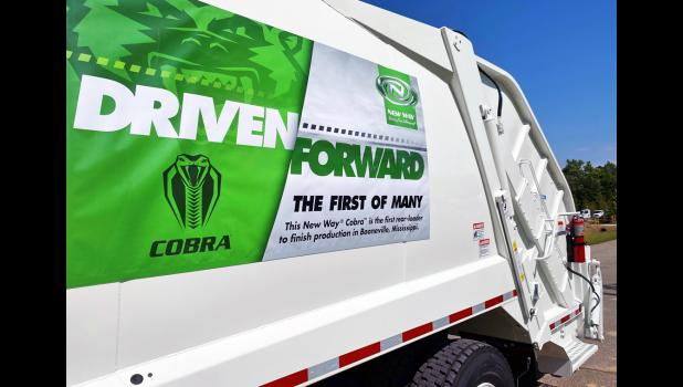 On May 13, New Way celebrated its first 100 percent Mississippi-made Cobra in Booneville, Miss. The truck, completed in March, marked the first truck manufactured using components entirely sourced from the Booneville plant. Scranton-based New Way expanded to Mississippi last October, clearing a path to become the No. 2 maker of garbage trucks in North America.