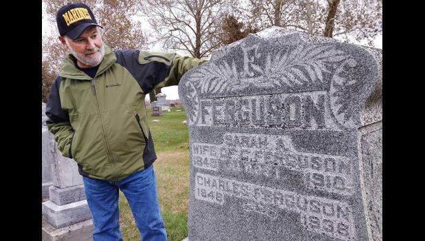 """I don't know how else to keep them remembered,"" says John Mosher, a Churdan native who's trying to raise money for a memorial to all veterans buried in the Highland Twp. Cemetery. One of the cemetery's oldest veterans is Charles H. Ferguson, who served in the Union Army's war against the Plains Indians in the 1860s. ANDREW McGINN 