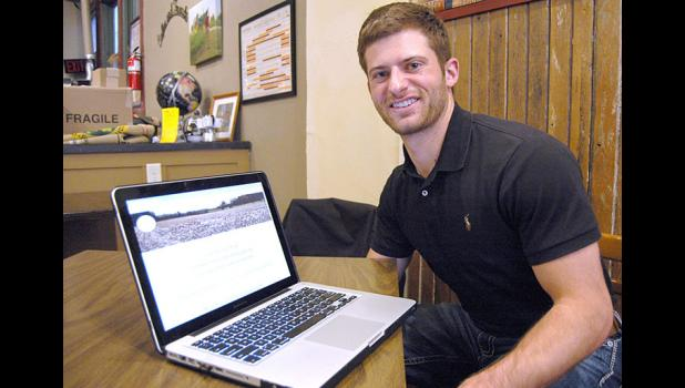 Tyler Horbach says online shopping is spreading to agribusiness. His startup, The FarmElement, will put local ag retailers first. ANDREW McGINN | JEFFERSON HERALD