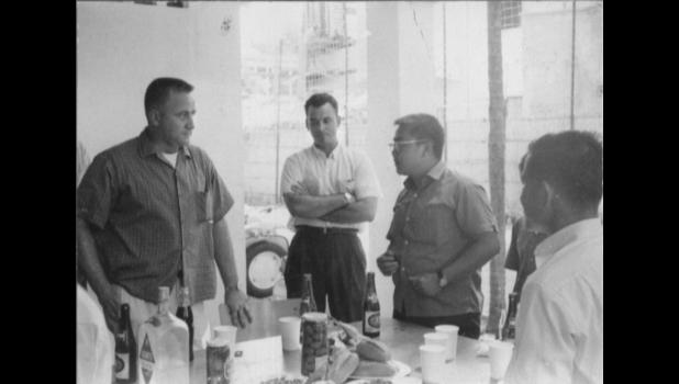 Jefferson native and Army Green Beret Bill Kendall (center) is pictured in civilian clothes while working with the CIA in Vietnam circa 1964 or 1965. Students today don't know a lot about the Vietnam War, says Paton-Churdan Principal Annie Smith.