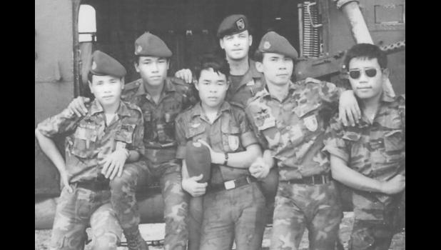 Jefferson's Bill Kendall (center) with his team in Vietnam, 1968.